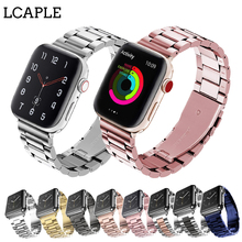 цена на Strap For apple watch band 44 mm 40mm Apple Watch 4 3 2 1 Iwatch band 42mm 38mm Stainless Steel Link Bracelet Belt Watchband