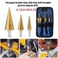 Сверло ступенчатое из быстрорежущей стали с титановым покрытием для древесины и металла, 3 шт., 4-12/4-20/4-32 мм, сверлильные электроинструменты, ...