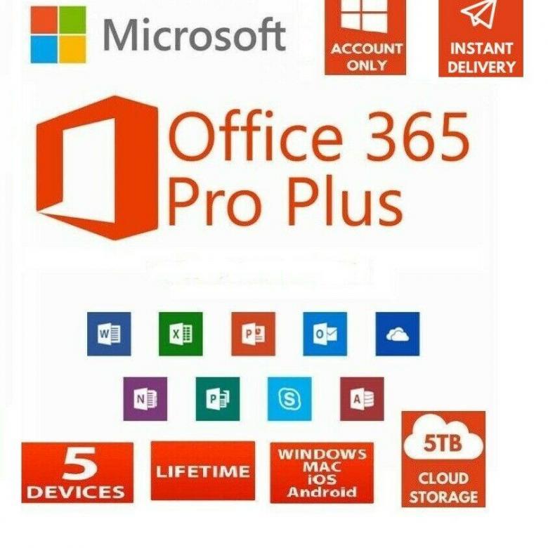Microsoft Office 365 для Windows или Mac пожизненная лицензия на 5 устройств Windows Mac Iphone Android лучший офис 365 для ПК