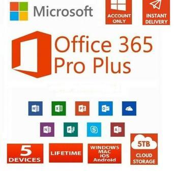 Microsoft Office 365 для Windows или Mac пожизненная учетная запись на 5 устройств макбук iphone android windows 10 офис 365