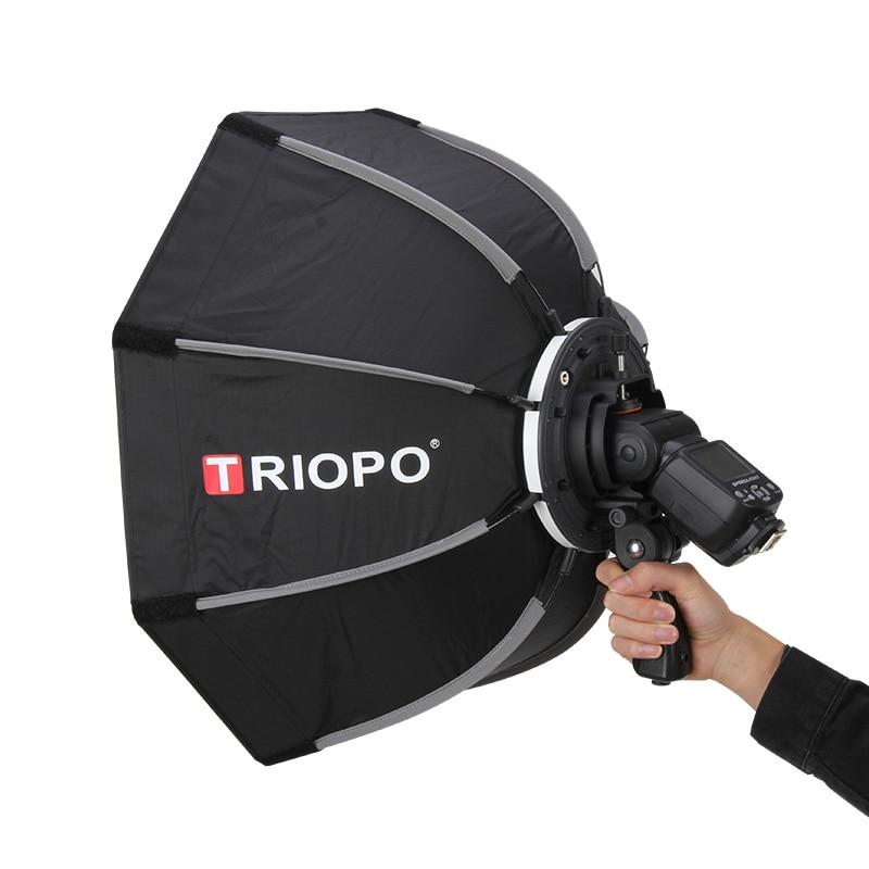 Triopo 55cm octogone parapluie photographie Softbox pour Godox V860II TT600 TT685 YN560 III IV JY-680A Flash Speedlite boîte souple