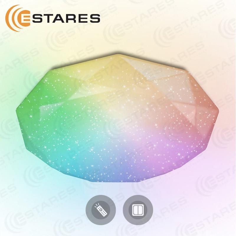 Controlled Ceiling Light Estares Almaz 60W RGB R-500-shiny/white-220v-ip44