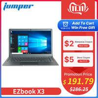 Jumper EZbook X3 notebook 13,3 zoll IPS display laptop Intel Apollo See N3350 6GB 64GB eMMC 2,4G /5G WiFi mit M.2 SATA SSD slot
