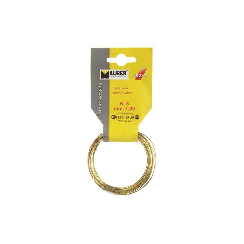 Wire Brass Maurer No. 3/0,8mm. 12 Meters