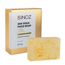 Sinoz 24K Gold Facial Care Soap, Cosmetics, Makeup, Hydrating, Anti-Aging, Face Savon