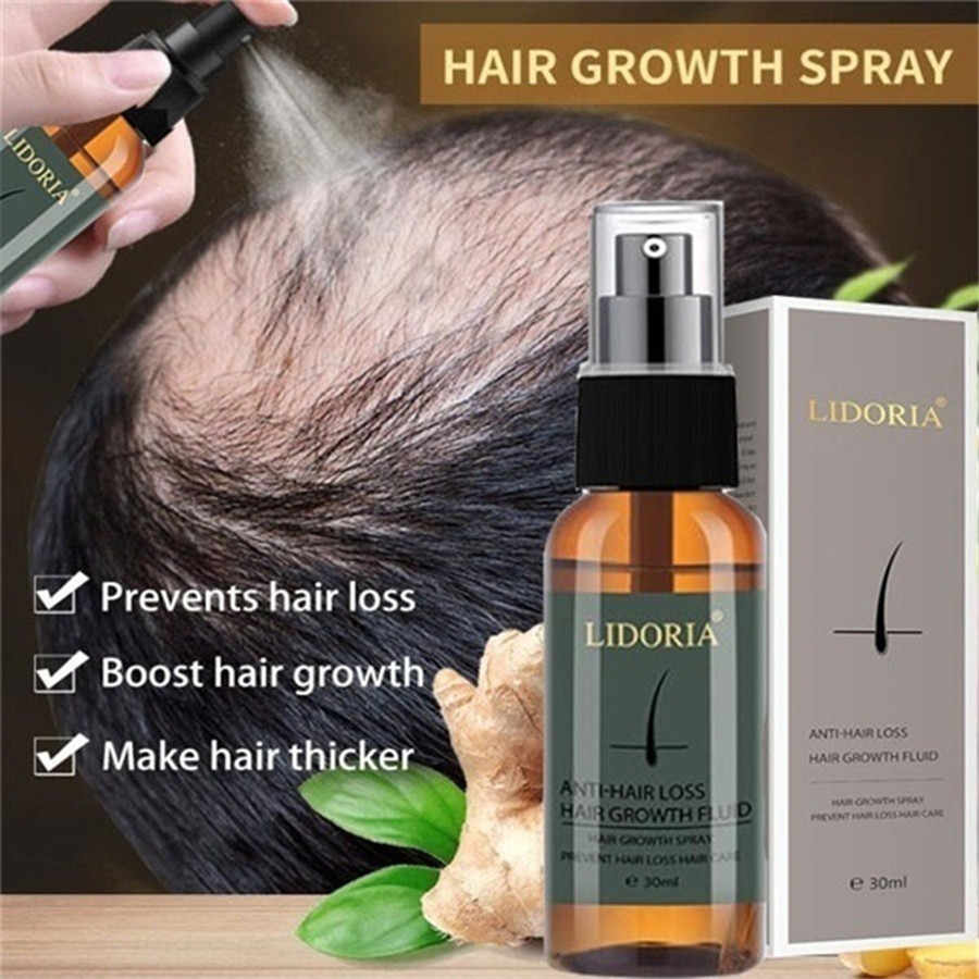 Hair Growth Essence Oil Hair Treatment Treatment ช่วยสำหรับ hair Growth Hair Care 30ml Hair Growth สเปรย์ขิง Essence สเปรย์