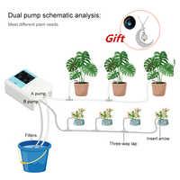 Pompe à eau intelligente jardin solaire dispositif d'arrosage automatique énergie solaire système de minuterie de charge plante en pot Irrigation goutte à goutte