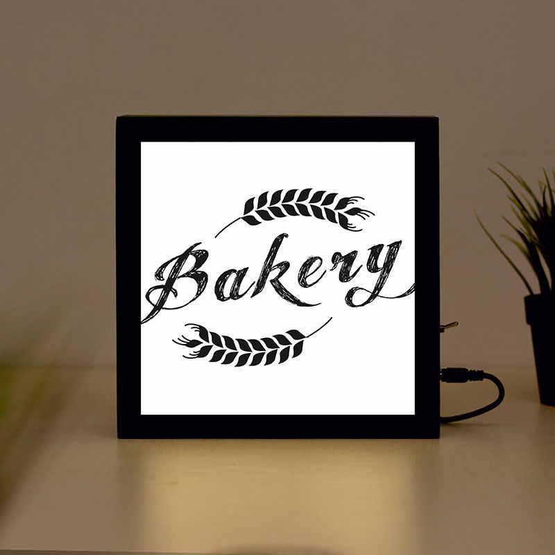 Bakkerij Handgemaakte Houten Lichtbak Teken voor Thuis, Restaurant, Koffie Winkel Bedrijf Bewegwijzering