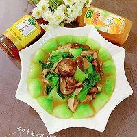 快手鲜美的素菜——鸡汁香菇青菜+太太乐鲜鸡汁芝麻香油的做法图解15