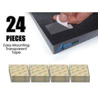 Arrowzoom 24 stücke Pack Akustische Schaum Panel Einfache Montage Klebrige Tabs Doppelseitige Klebebänder|Dichtleisten|Heimwerkerbedarf -