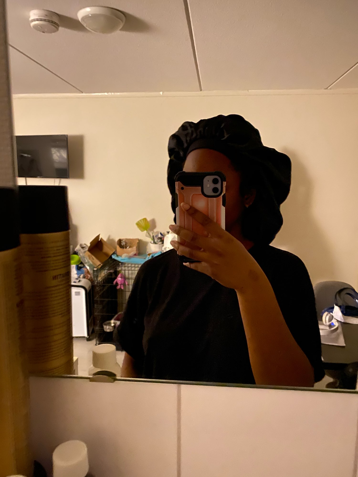 Extra Large High Quality Satin Waterproof Shower Cap - Unisex Hair Treatment Hat photo review