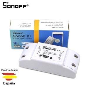 Интеллектуальный выключатель света SONOFF Беспроводной RF переключатель 433 МГц Wi-Fi 2,4 ГГц Смарт Голосовое управление ALEXA и GOOGLE HOME ANDROID IPHONE