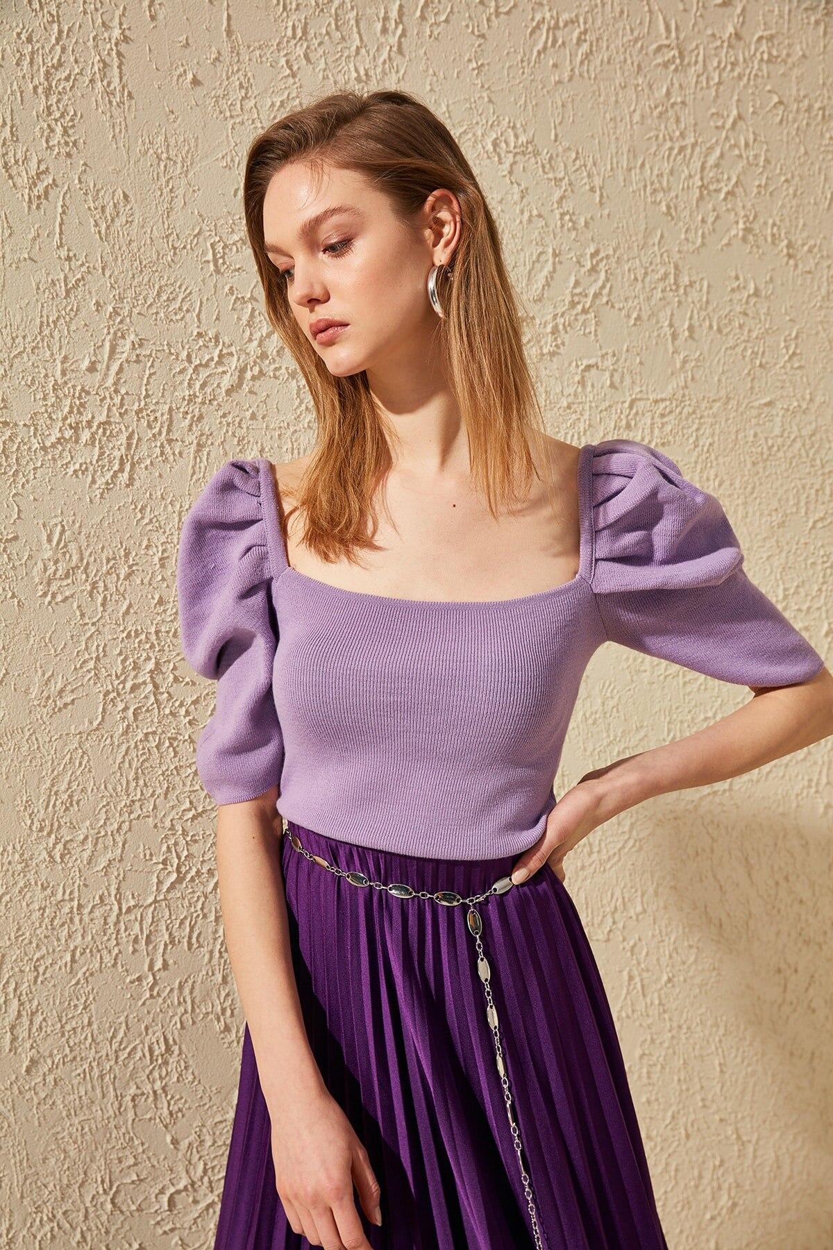 Trendyol Balloon Sleeve Knitwear Sweater TWOSS20KZ0027
