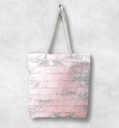Else розовый серый винтажная деревянная старение Новая модная белая парусиновая сумка с веревочной ручкой хлопковая парусиновая сумка на мо...
