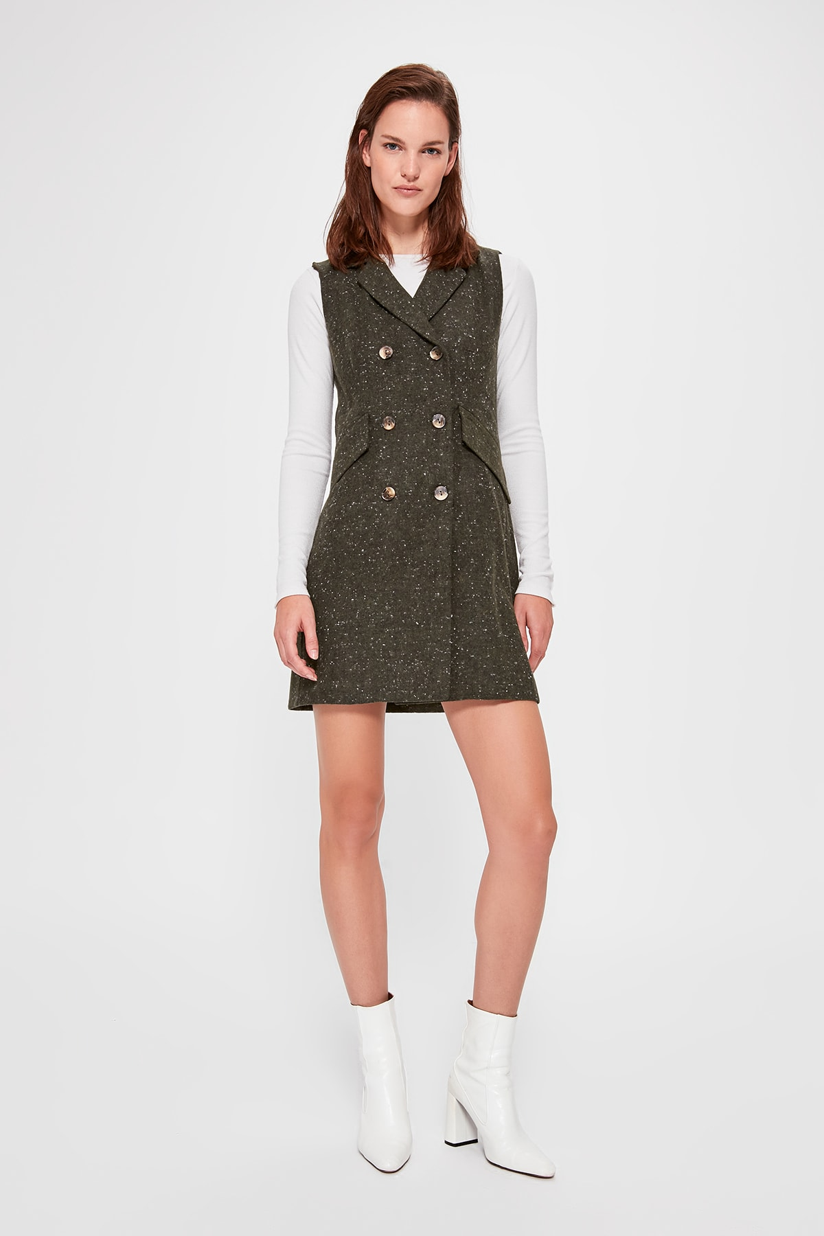 Trendyol Gilet With Pockets Dress TWOAW20EL1261
