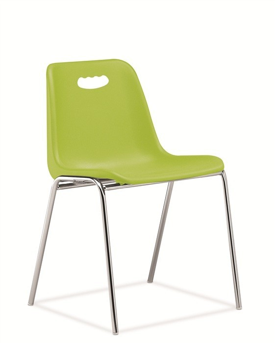 Chair ENCLOSURE With Handhold, Chrome Plated, Green