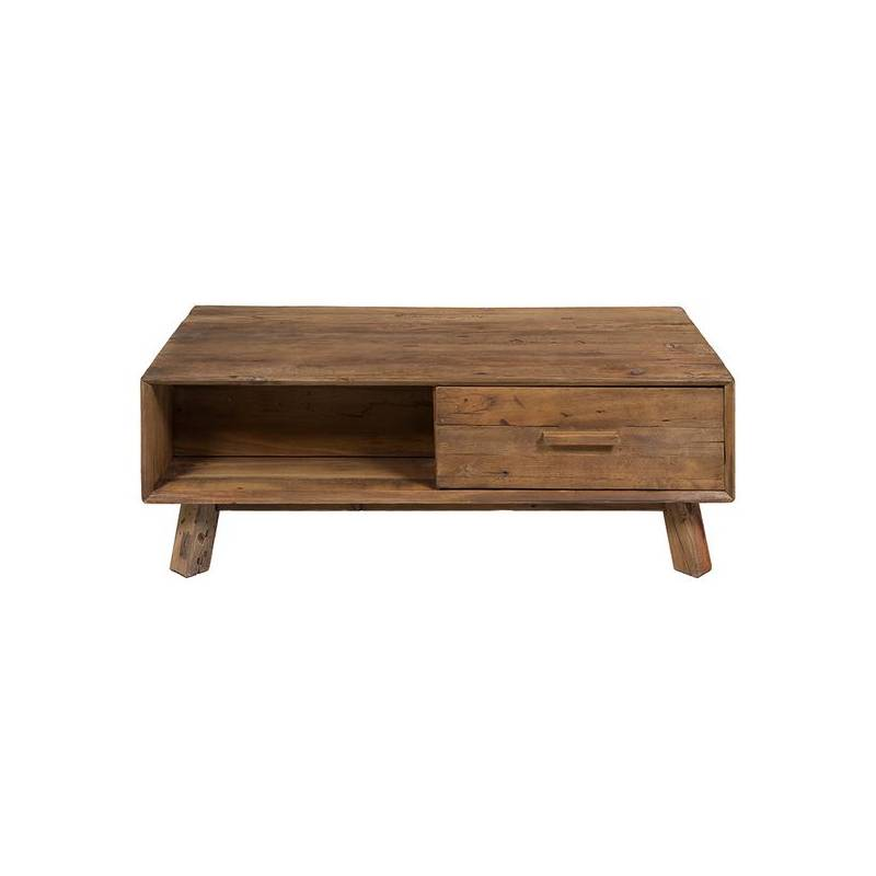 Coffee Table (120x60x63 Cm) Recycled Wood