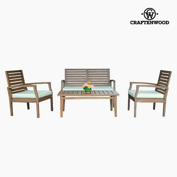 Sofa And Table Set Teak (4 Pcs) By Craftenwood