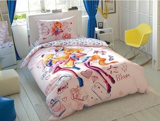 100% baumwolle Lizenzierte Winx Cosmix Bettbezug set Bettwäsche Bettbezug set für kinder kinder kleinkind  junge oder mädchen-in Bettwäsche-Sets aus Heim und Garten bei title=