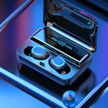 Auriculares Bluetooth TWS F9-5 Inalámbricos CVC 8.0 Estéreo HIFI Micrófono Incorporado Reducción de Ruido Teléfono Mano Libre Estuche de Carga con Pantalla Digital Entrega Plaza