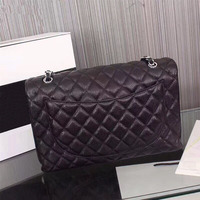 Luxury woman handbags 2020 high quality Real leather Caviar women bags famous designer gold chain women diagonal cross package
