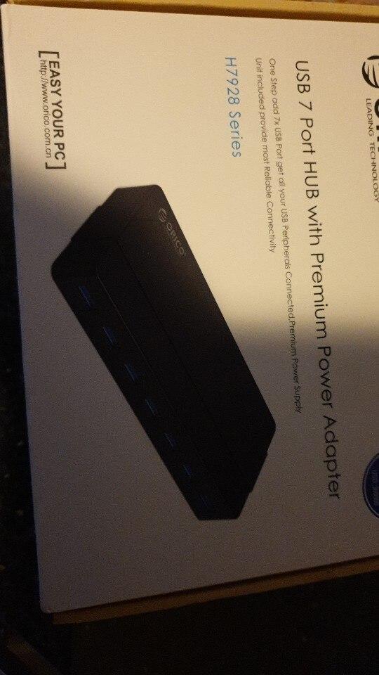 ORICO H7928-U3 7 ports USB3.0 HUB de bureau avec adaptateur secteur 12V HUB USB 3.0