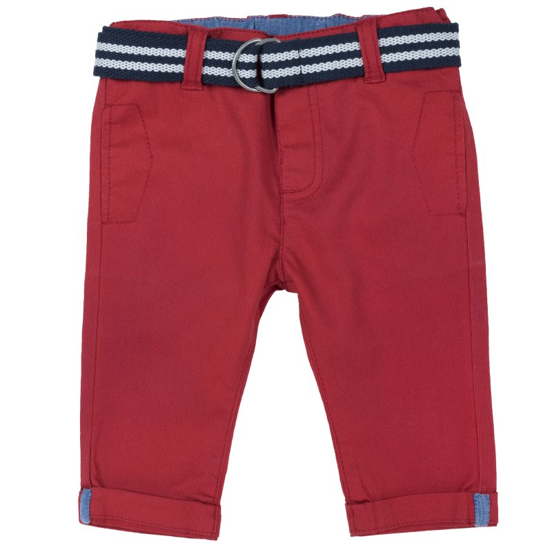 Chicco Trousers Size 086 Color Red