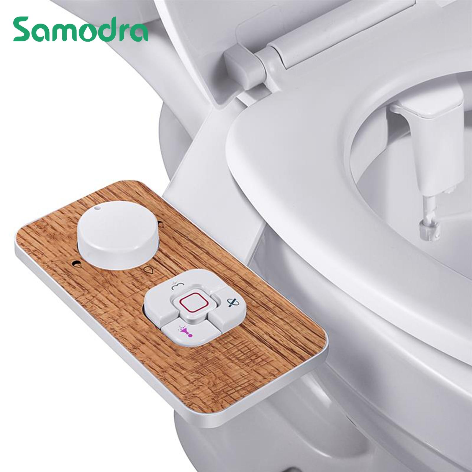 Samodra Toilet Bidet Toilet Seat Attachment Ultra-thin Non-electric Dual Nozzles Frontal & Rear Wash Ass Sprayer for Bathroom 1