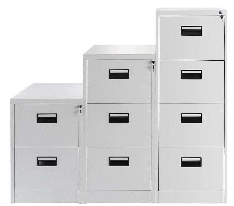 Filing Cabinet OTHELLO, Metallic, 4 Drawers, Gray Ral 7035