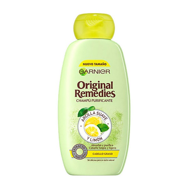 Purifying Shampoo Original Remedies Garnier (300 Ml)