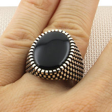 Sterling Silver Ring 925 With Stone For Men For Women Black Onyx Gemstone Gift For Him Men's Rings Handmade - Turkish Jewelry()