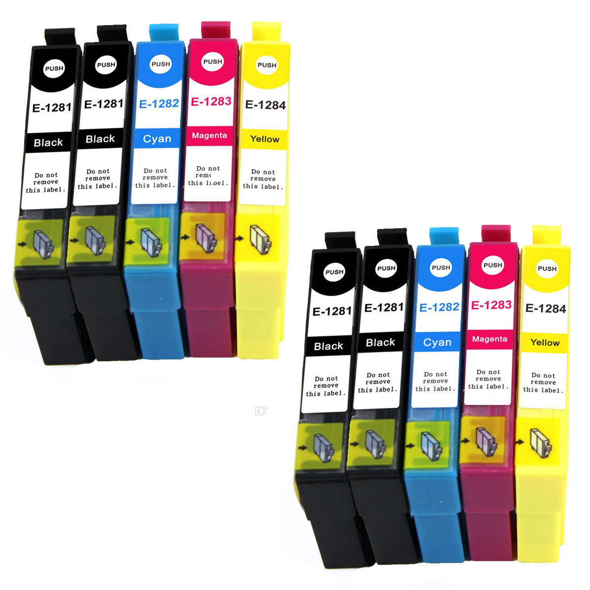 10 ink cartriges Model T1281 T1282 T1283 T1284 T1288 Compatible with epson printers Stylus S22 SX125 SX130 SX230 SX235W Ink Cartridges     - title=