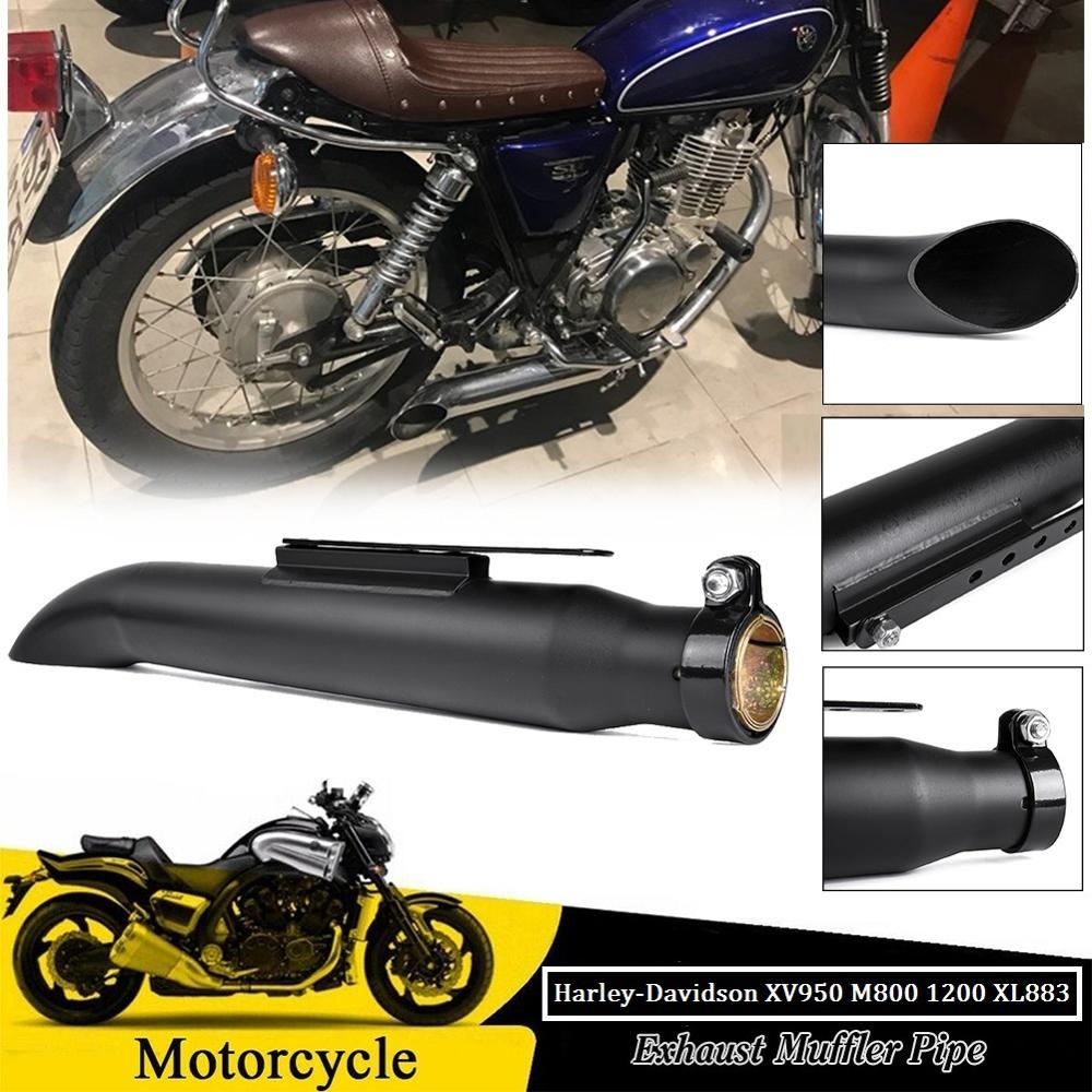 38/40/43/45mm rétro classique pot d'échappement silencieux évasion Motocross ATV universel pour Harley Chopper Bobber café Racer vélo personnalisé