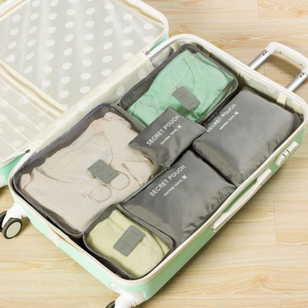 Местный запас 6 шт. водонепроницаемые дорожные сумки одежда чемодан Органайзер сумка Упаковка распродажа - Цвет: 3