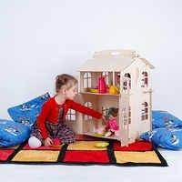 Muñecas casa juguetes casa DIY pintura tablero de construcción educación juguete niños regalos muñeca accesorio bloque pieza puzle DFB-2d