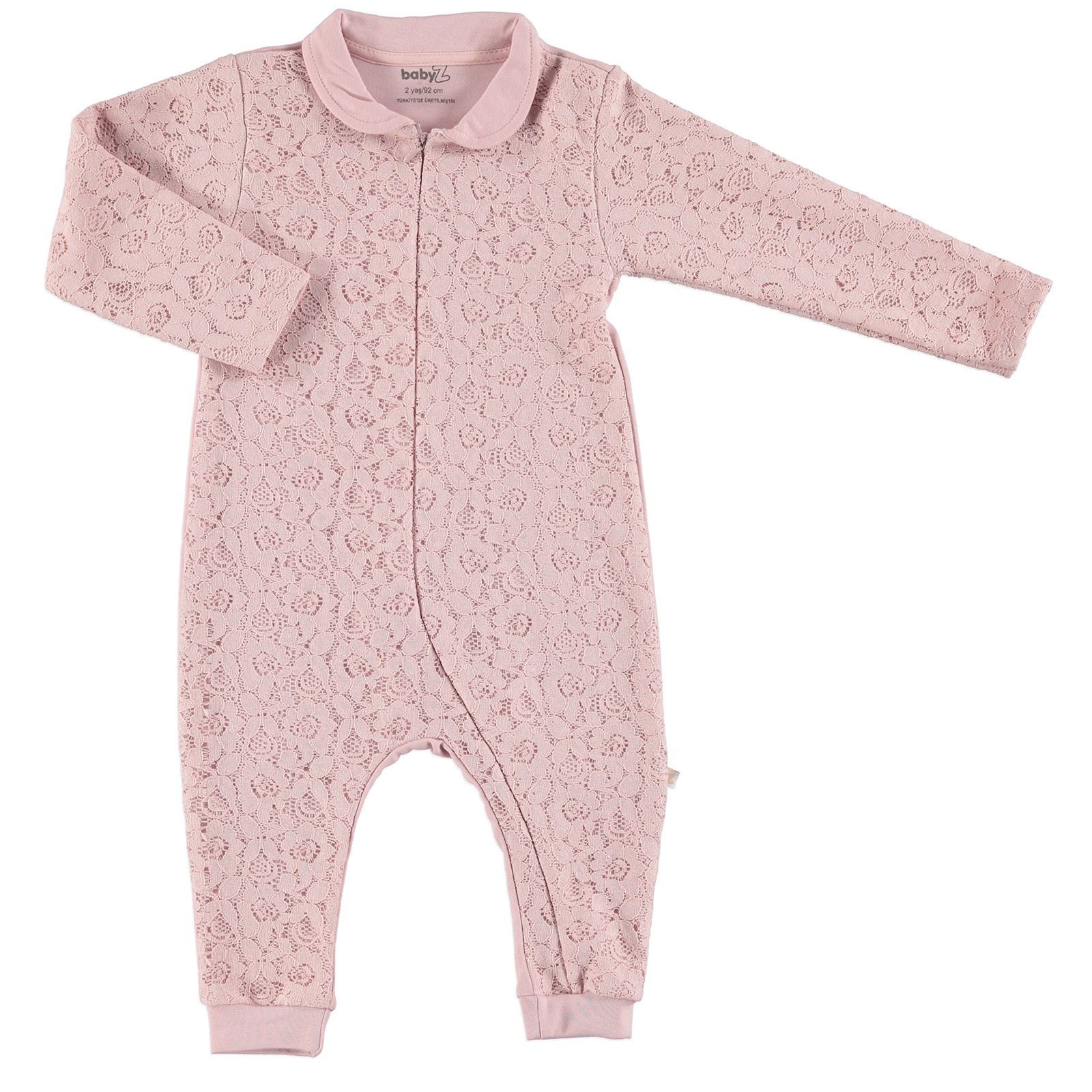 Ebebek BabyZ Baby Lacy Detail Zippered Footless Romper
