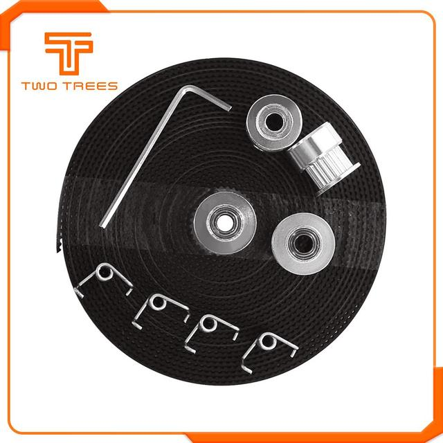 3D Printer Parts GT2 Pulley 20 Teeth Bore 5mm GT2 6mm Timing Belt & 2X Idler 4X Tensioner  for 3D printer kit