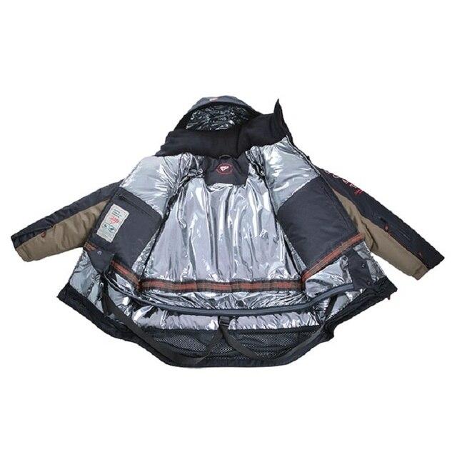 Мужской костюм для зимней рыбалки, непромокаемый непотопляемый для безопасности на воде 4