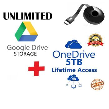 Global Premium UNLIMITED LIFETIME Storage + 5 TB One Drive + O365 NEW A1 Account 3 in 1 Pack TV Stick Work on PCs