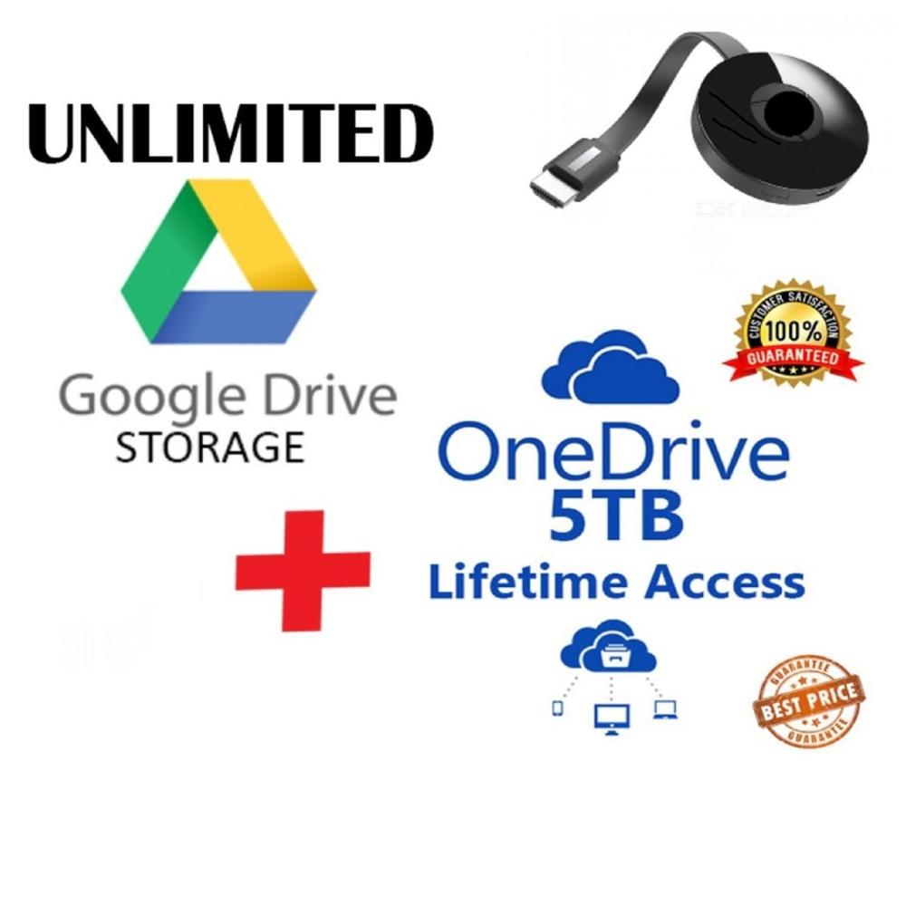 Premium GDrive UNLIMITED LIFETIME 5TB ONE D 365 NEW A1 Ac0unt 3 in 1 Package TV
