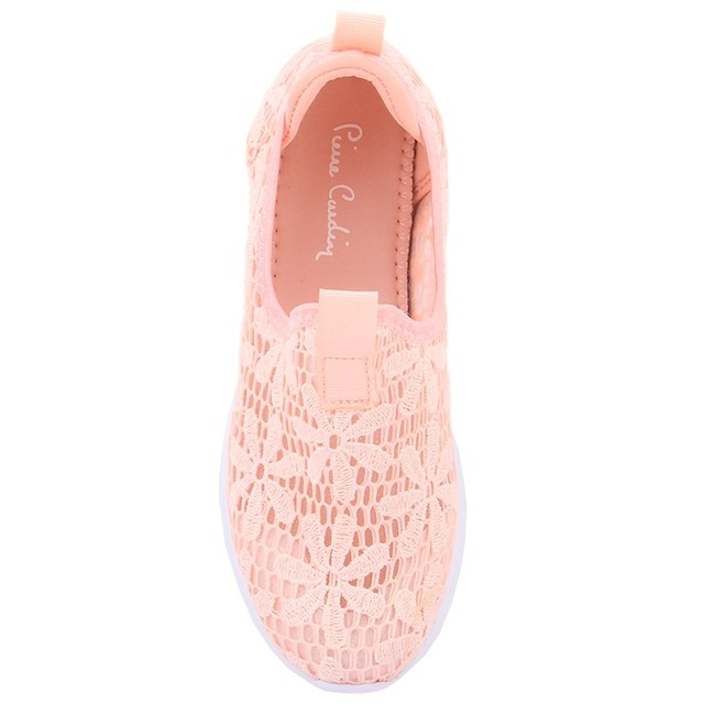 Pierre Cardin-Pink Coloured Ruched Women's Daily Casual Shoes