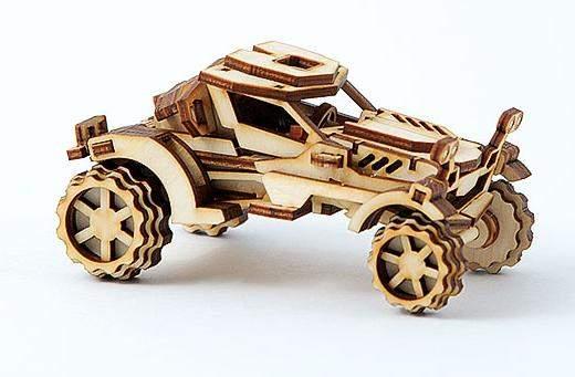 Конструктор 3D деревянный подвижный Lemmo Внедорожник Скорпион Блочные конструкторы    АлиЭкспресс
