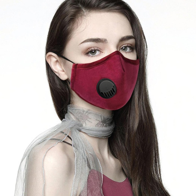 PM2.5 Activated Carbon Face Breath Valve Masks Reusable Breathable Cotton Protective Mouth Mask Anti Flu Dust Masks Comfortable 4