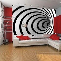 Фото обои-Тоннель 3D Черно-белый