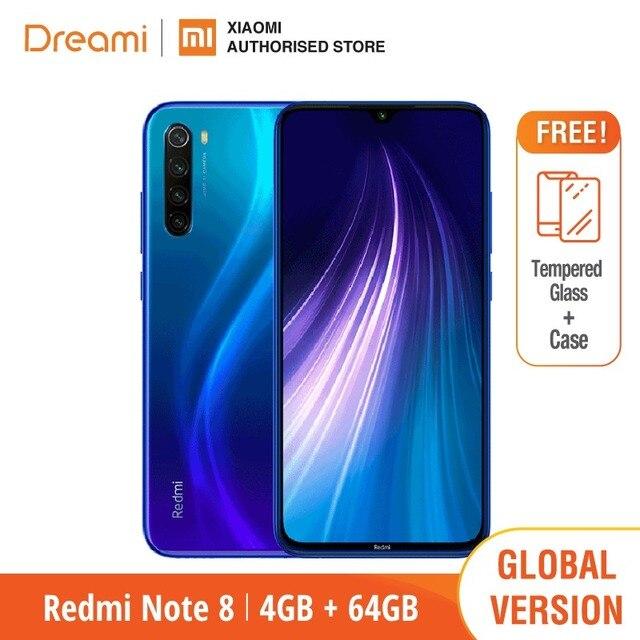 הגלובלי גרסה Redmi הערה 8 64GB ROM 4GB RAM (חדש לגמרי וחתום), note8 64gb Smartphone נייד