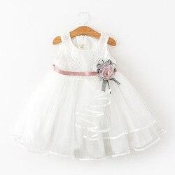 Платье принцессы с цветами для маленьких девочек, платье Вечерние НКИ, свадьбы, конкурса, кружевное платье-пачка для девочек, летние костюмы...