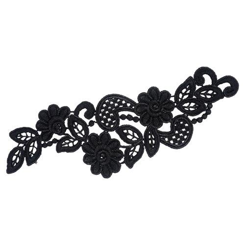 2797327 Appliques Sewn Lais Polyester 23*7,5 Cm Black