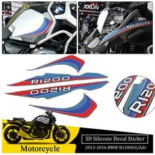 3D Silicone Tank Side Pad Front Beak Decal Sticker Whole Vehicle Emblem Set for BMW R1200GS R 1200GS ADV Adventure 2013-2018 bjmoto for bmw r1200gs adv adventure 2014 2015 2016 2017 2018 moto fender beakfuel tank 3d silicone sticker cover decal tank pad
