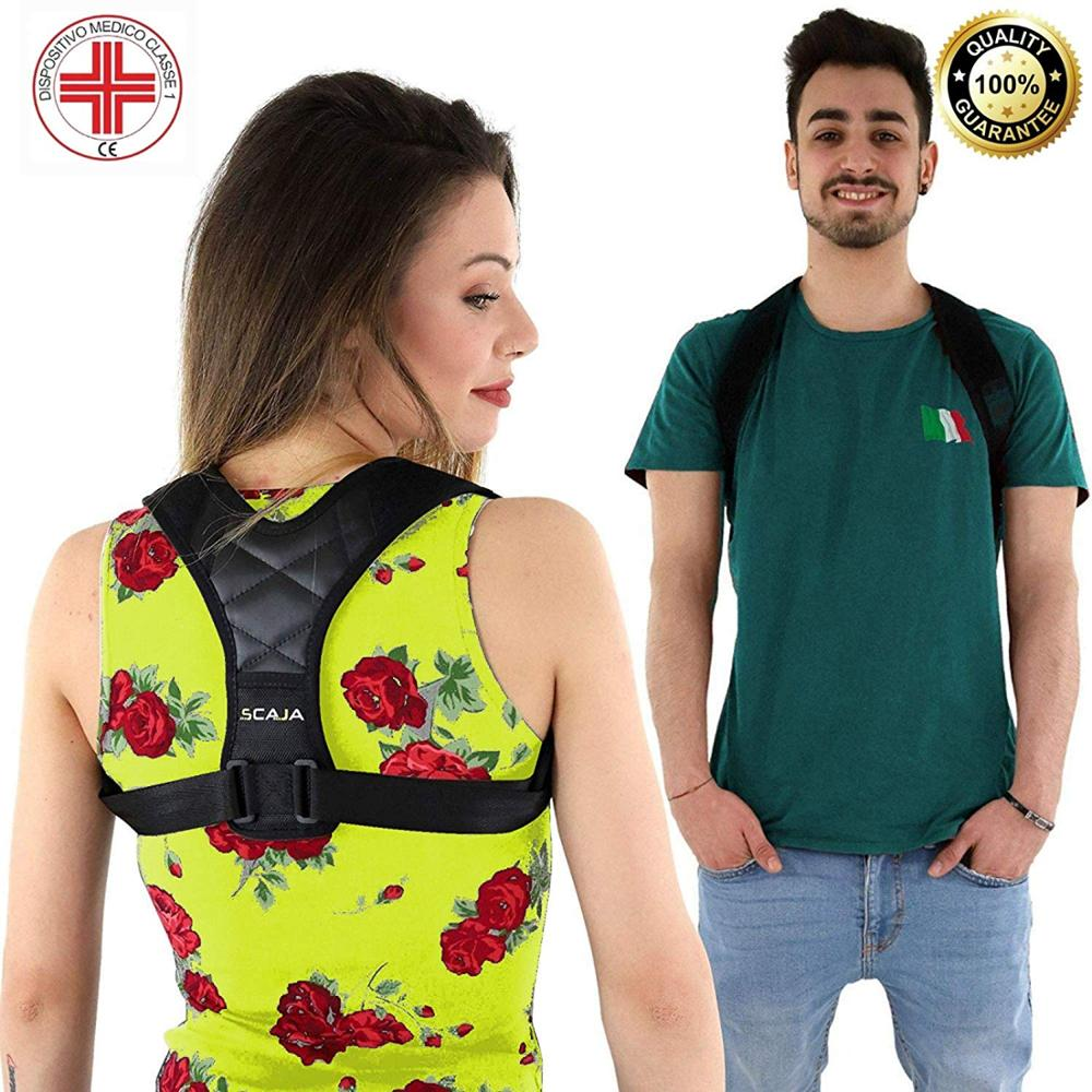 Posture Corrector for Men and Women, New 2019 version, Upper Back Brace for Clavicle Support, Adjustable Back Straightener and Providing Pain Relief from Neck, Back & Shoulder.