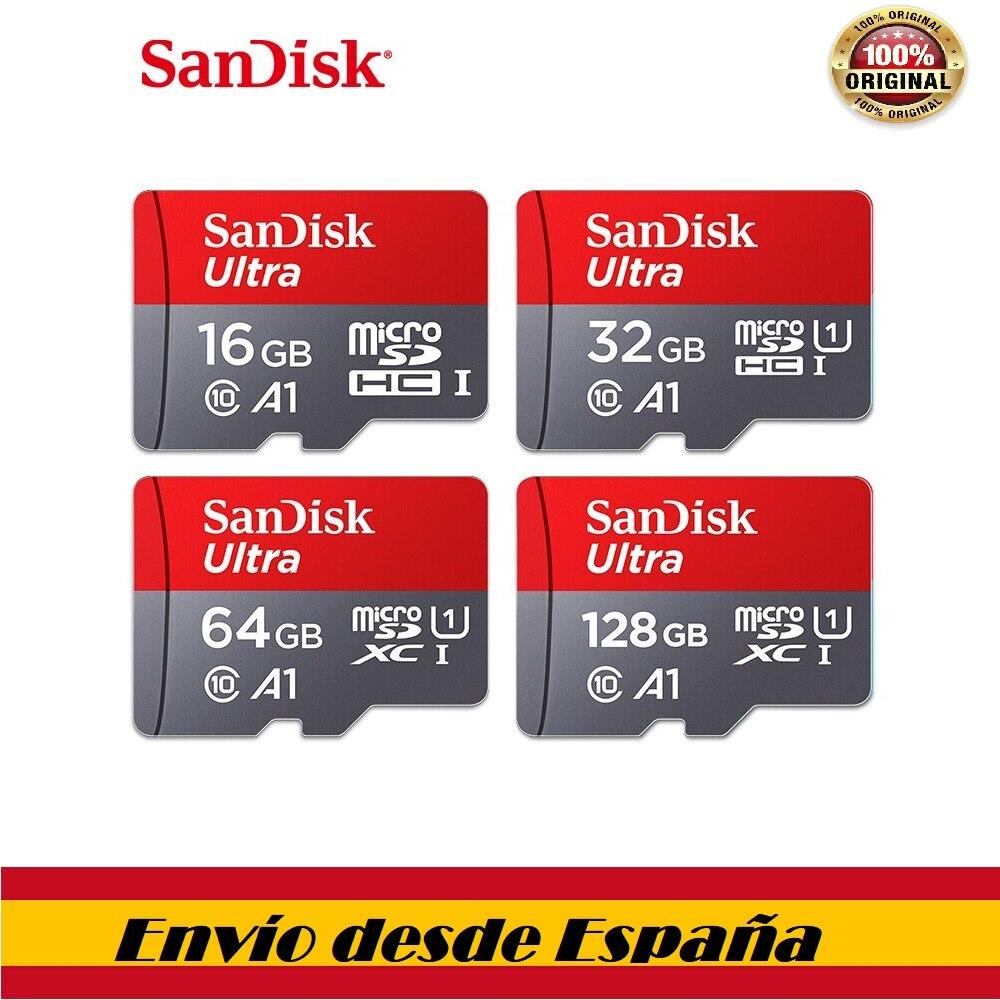 100% Sandisk class10-tarjeta микро sd tf 16 Гб оперативной памяти, 32 Гб встроенной памяти, 64 ГБ 128 ГБ sd слот для карт памяти